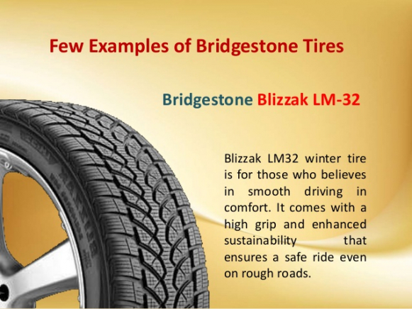 Bridgestone Blizzak LM32 Additional info